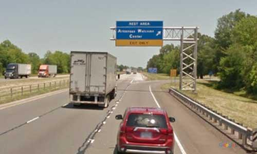 ar i30 arkansas texarkana welcome center eastbound mile marker 7