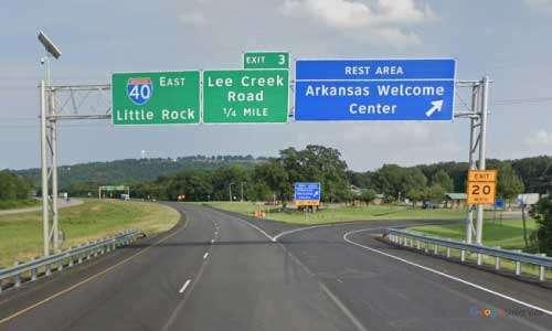 ar i40 arkansas van buren welcome center eastbound mile marker 2